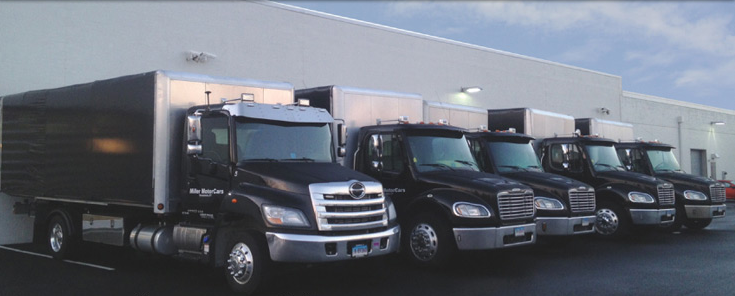 Pick up and delivery trucks