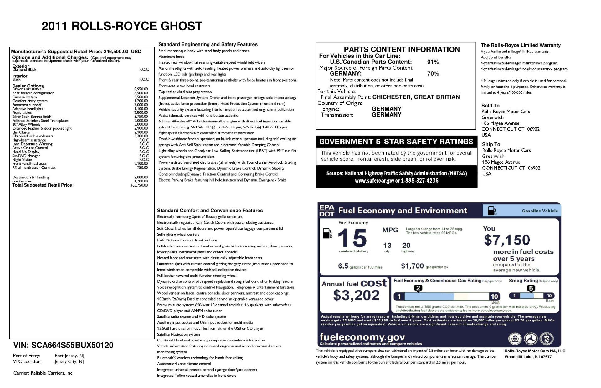 Used 2011 Rolls-Royce Ghost    Greenwich, CT