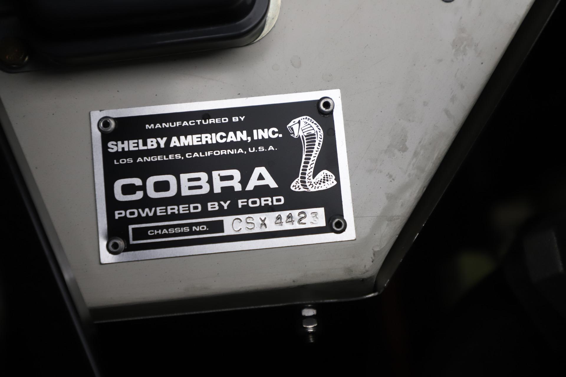 Used 1965 Ford Cobra CSX